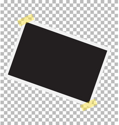 photo frame on sticky tape template photo design vector image