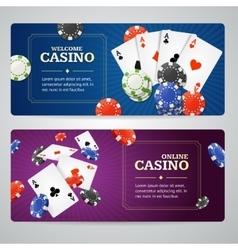 Poker Casino Banner Set vector image