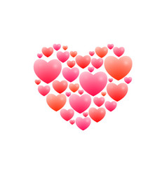 romantic heart vector image vector image