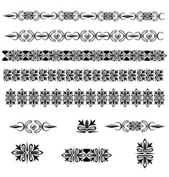 vintage decoration pages vector image vector image