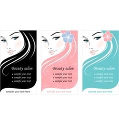beauty fashion ad vector image