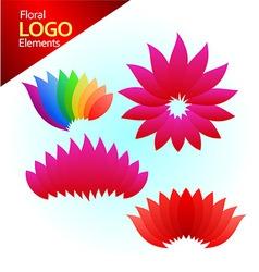 floal logos vector image vector image