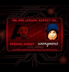 Hacker id card vector