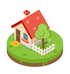 House Building Private Property Tree Icon Real vector image