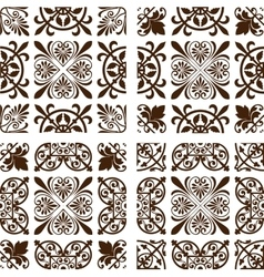 Set of 4 wallpapers vector image vector image