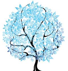 Tree in snow vector image