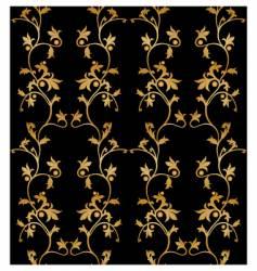 vintage floral wallpaper vector image vector image