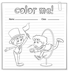 A worksheet with two men vector image