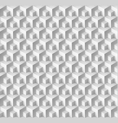 Abstract geometric background with cubes in white vector