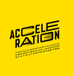 Acceleration style font vector