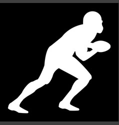 american football player it is the white color vector image