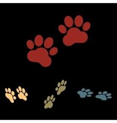 Animal tracks sign vector image