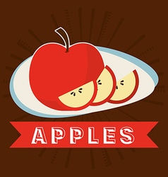 Apples fruit vector