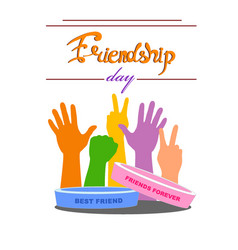 bracelets of friendship against the background of vector image