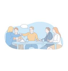 Business team negotiation interview concept vector