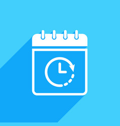 calendar icon with clock sign vector image