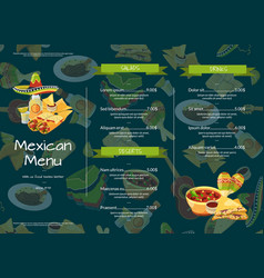 cartoon mexican food cafe or restaurant vector image