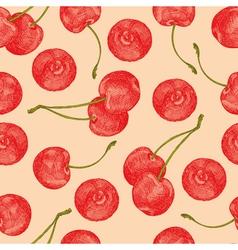 Cherries seamless vector