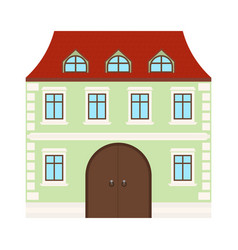 Colored house two-storey residential building vector