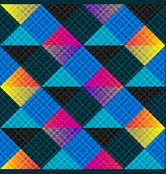 colored polygons abstract geometric background vector image