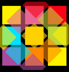colorful abstract square pattern background flat vector image