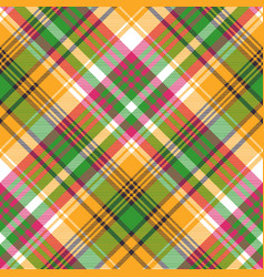 Colors madras plaid textile texture seamless vector