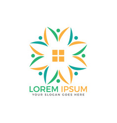 community home logo vector image