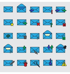 computer mail simple blue icons eps10 vector image