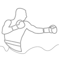 Continuous one line drawing boxer concept vector