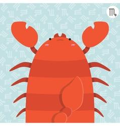 cute big fat scorpio zodiac cartoon vector image
