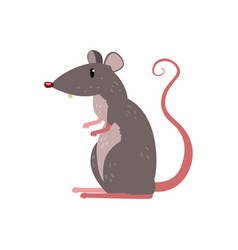 Cute funny mouse character on vector