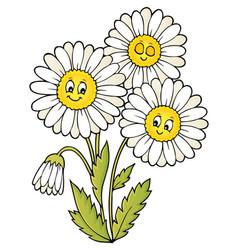 Daisy flower theme image 1 vector