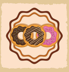 Delicious sweet bakery vector