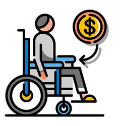 Disablement benefit linecolor vector