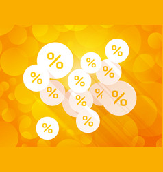 discount labels on orange summer background vector image