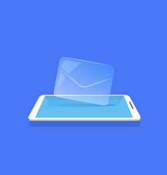 email envelope icon mobile messenger application vector image