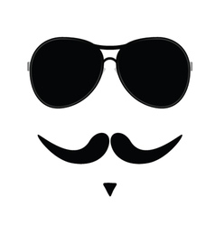 Face with mustache two vector