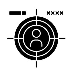 First-person shooter glyph icon vector