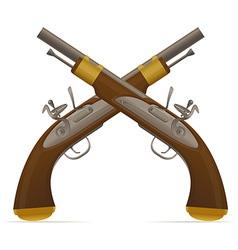 flintlock pistol 02 vector image