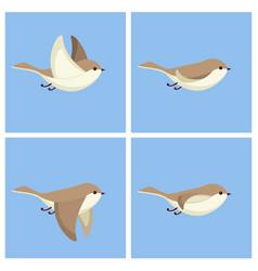Flying bird animation sprite sheet vector
