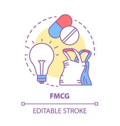 Fmcg concept icon fast moving consumer goods idea vector