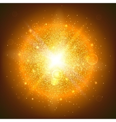 Glowing ball with particles vector image vector image
