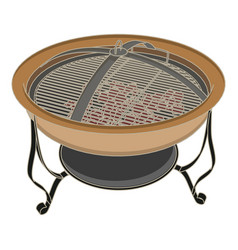 Grill bbq barbecue fire steak meat grilled food vector