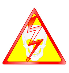 Hazard sign vector