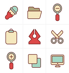 Icons Style Graphic design icons vector