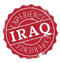 Iraq stamp rubber grunge vector