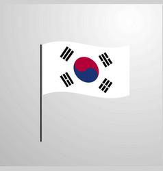 Korea south waving flag vector