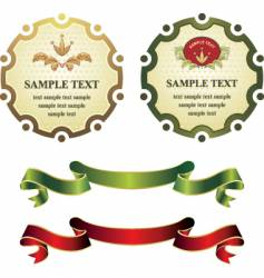 label and banners vector image