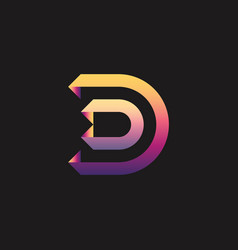 letter d logo template vector image