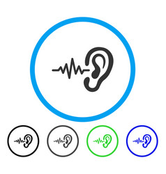 Listen rounded icon vector